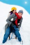 Het paar van de winter Stock Afbeelding