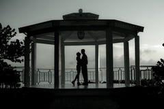 Het Paar van de zonsondergang Stock Foto