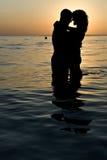 Het Paar van de zonsondergang Stock Afbeelding