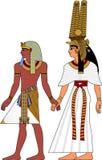 Het paar van Egypte Stock Fotografie
