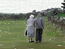 Het paar van Eldely royalty-vrije illustratie