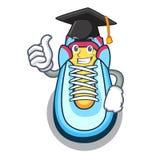 Het paar van het graduatiebeeldverhaal toevallige tennisschoenen vector illustratie