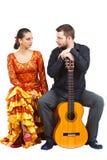 Het paar van het flamenco Stock Foto