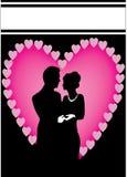 Het paar van het hart Stock Foto's