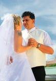 Het paar van het huwelijk Stock Foto's