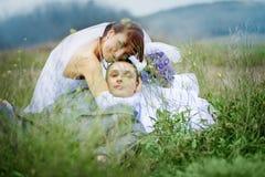 Het paar van het huwelijk Stock Fotografie