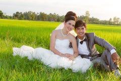 Het paar van het Huwelijk van Azië Stock Fotografie