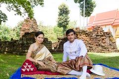 Het paar van het Huwelijk van Azië Royalty-vrije Stock Foto's