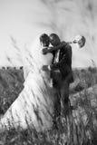 Het paar van het huwelijk. Zwart-wit Stock Afbeeldingen