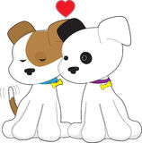 Het Paar van het puppy Royalty-vrije Stock Afbeelding