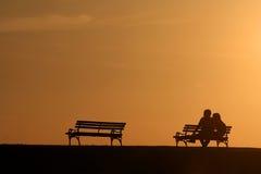 Het paar van het silhouet stock fotografie