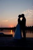 Het Paar van het silhouet royalty-vrije stock afbeelding