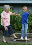 Het Paar van het skateboard Royalty-vrije Stock Fotografie