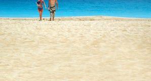 Het paar van het strand Royalty-vrije Stock Foto