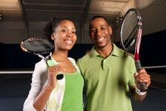 Het paar van het tennis Stock Fotografie