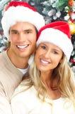 Het paar van Kerstmis Stock Foto