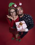 Het paar van Kerstmis Stock Afbeelding