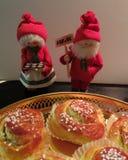 Het paar van Kerstmis Stock Afbeeldingen