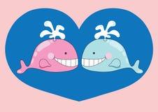 Het paar van Nice van walvis stock illustratie