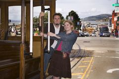 Het paar van San Francisco in liefde. Royalty-vrije Stock Foto's