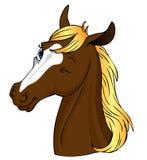 Het paard knipoogt! vector illustratie