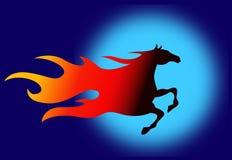 Het paard van de brand Stock Afbeeldingen