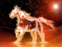 Het paard van de brand Stock Foto's