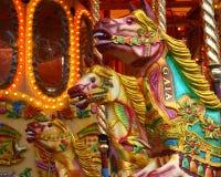 Het Paard van de carrousel. Stock Fotografie