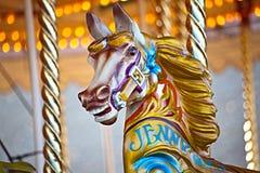 Het paard van de carrousel Royalty-vrije Stock Foto's