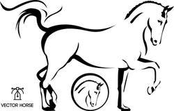Het paard van de dressuur stock illustratie
