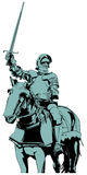 Het paard van de ridder Stock Fotografie