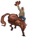 Het Paard van de Rodeo van Bucking royalty-vrije illustratie