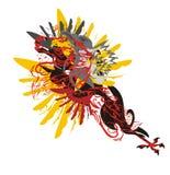 Het paard van het Grungemonster vector illustratie