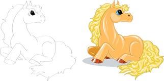 Het paard van het beeldverhaal Stock Afbeelding