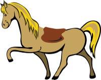 Het paard van het beeldverhaal Royalty-vrije Stock Fotografie