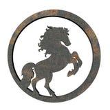 Het paard van het ijzer Stock Fotografie