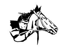 Het Paard van het ras stock afbeeldingen