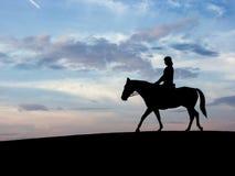 Het Paard van mensen Royalty-vrije Stock Foto