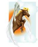 Het paard van Pegasus Stock Afbeeldingen