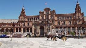 Het Paardbus van Sevilla stock videobeelden