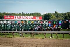 Het Paardenrennen van de Saratogalentes royalty-vrije stock fotografie