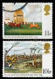 Het PaardenrennenPostzegels van Groot-Brittannië royalty-vrije stock foto's