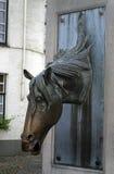 Het paardfontein van Brugge, België Stock Afbeeldingen