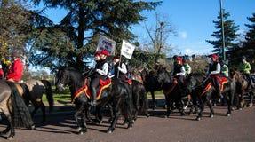 Het paardparade van Parijs Stock Afbeelding