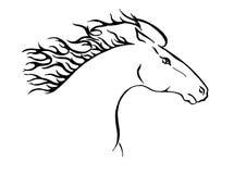 Het paardportret van Wilde stock illustratie