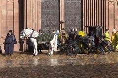 Het paardvervoer van Bazel Carnaval 2019 stock afbeelding