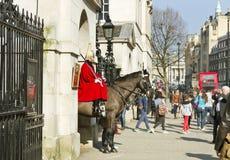 Het Paardwacht van de koningin op plicht. Royalty-vrije Stock Foto's
