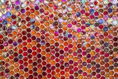 Het paarlemoer van de mozaïekmuur Stock Fotografie