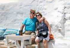Het paarportret in liefde heeft romantische tijd op de zomervakantie Stock Fotografie