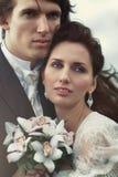 Het paarportret van het huwelijk Stock Afbeelding